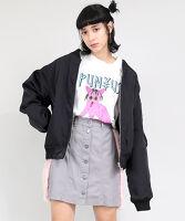 PUNYUS(プニュス) | フェイクファーライン台形スカート