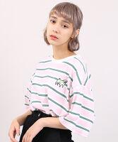 PUNYUS(プニュス) | FUGUドッグボーダーTシャツ