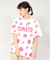 ぷにゅす プニュス | フード総柄Tシャツ