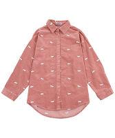 PUNYUS(プニュス) | 目玉焼き刺繍コーデュロイシャツ