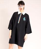ぷにゅす プニュス | 半袖バイカラービッグポロシャツ