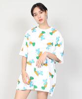 ぷにゅす プニュス | いただきマウス総柄Tシャツ