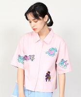 PUNYUS(プニュス) | フレンズ刺繍シャツ