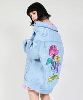 ぷにゅす プニュス   薔薇刺繍デニムジャケット