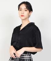 ぷにゅす プニュス | 薔薇刺繍オープンカラーシャツ