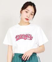 ぷにゅす プニュス   ロゴプリントTシャツ