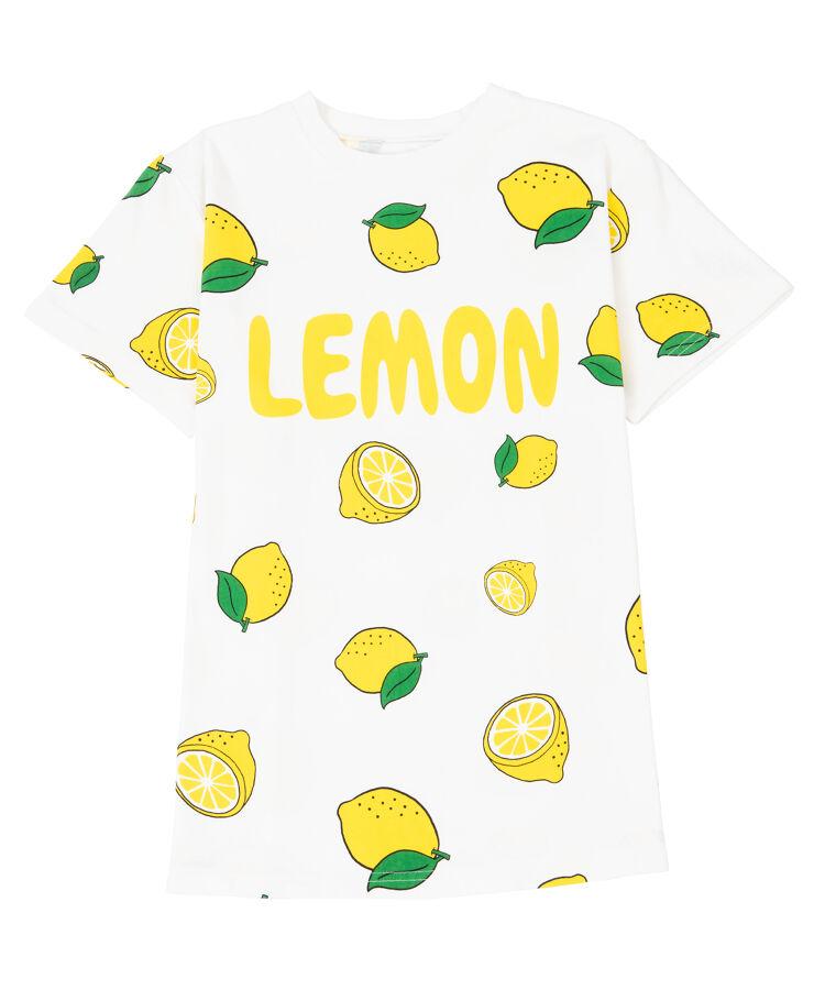 フード総柄Tシャツ(LEMON)