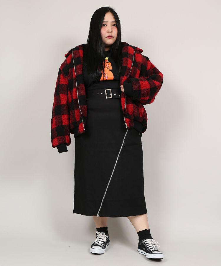 ZIPペンシルスカート