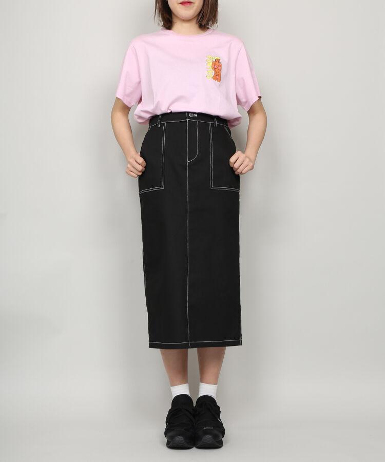 ステッチロングスカート