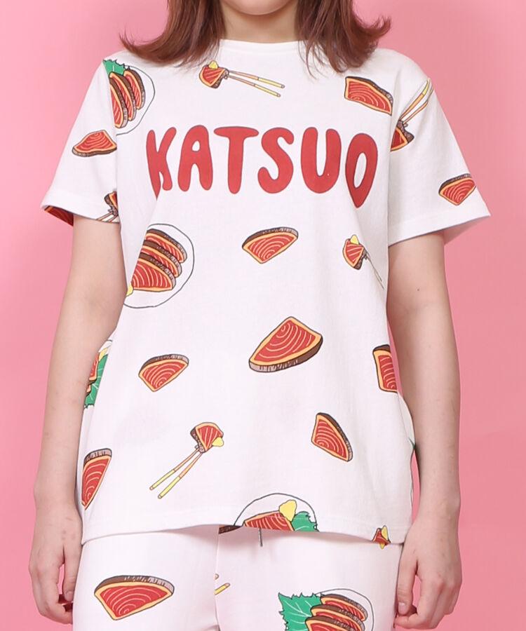 カツオのたたき総柄Tシャツ