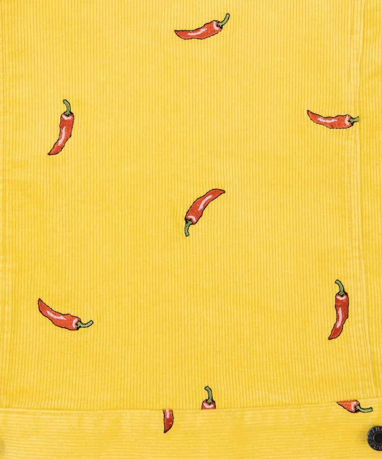 野菜刺繍コーデュロイジャケット