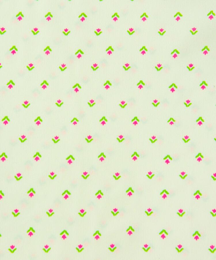 小花柄スクエアネックワンピース