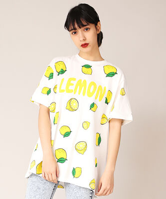 フード総柄Tシャツ